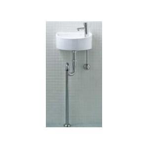 手洗い器 一式セット 送料無料 トイレ 手洗い器 AWL-33(S)-S 床給水・床排水 INAX トイレ・店舗用 狭いスペースにもOK 狭小手洗タイプ(丸形)|mary-b