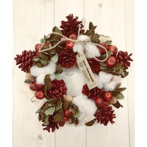 あすつく クリスマス 飾り クリスマス リース 玄関 約25cm 冬のリース 玄関ドア  ナチュラル   壁掛け ナチュラルリース CM912-B mary-b