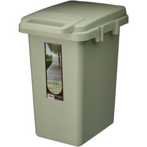 ゴミ箱 キッチン スリム フタつき コンテナスタイル 33J CS2-33JLGR 東谷 33リットル 連結可能|mary-b