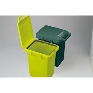 ゴミ箱 キッチン スリム フタつき コンテナスタイル 33J CS2-33JLGR 東谷 33リットル 連結可能|mary-b|02