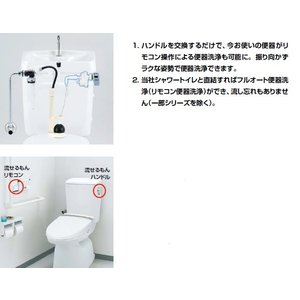 INAX イナックス LIXIL・リクシル トイレ マルチパーツシリーズ リモコン自動洗浄ハンドル流せるもん CWA-66 mary-b