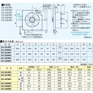 あすつく キッチン用 換気扇 台所用 EX-25EMP6 キッチンフード内取付けOK 羽根径25cm 三菱電機 換気扇 |mary-b|02