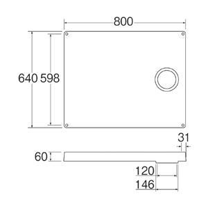 三栄水栓 洗濯器用品 洗濯機防水パン 洗濯機パン H541-800R   SANEI|mary-b|02