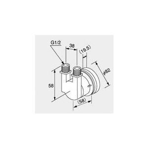 ノーリツ HX-F ガス給湯器 別売部材 循環アダプター・90度曲り 特別特価![新品]|mary-b