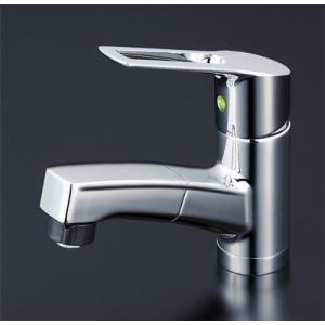 KVK 洗面用シングルレバー式シャワー付混合栓(eレバー)  KM8001TFEC [新品] mary-b