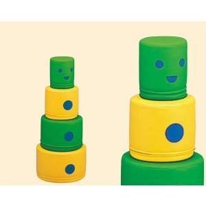 KP-021 マルロボ 積み上げて遊ぶソフトブロック 幼児用遊び場 室内遊具 コンビウィズ株式会社【KP021】|mary-b