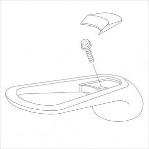 KVK  KP94-101/800  旧MYMFA237等用キッチン水栓用ハンドルセット樹脂メッキ 旧MYM補修部品>レバー・ハンドル [新品]|mary-b