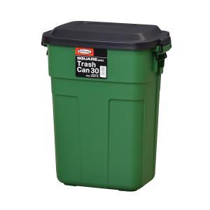 おしゃれな屋外用ごみ箱 トラッシュカン 30L 【L-941G】グリーン【東谷】【注意:代引き不可】|mary-b