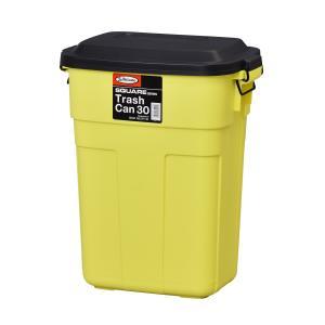おしゃれな屋外用 ごみ箱 トラッシュカン 30L イエロー【L-941Y】【東谷】【注意:代引き不可】|mary-b