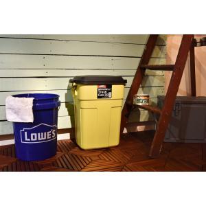 おしゃれな屋外用 ごみ箱 トラッシュカン 30L イエロー【L-941Y】【東谷】【注意:代引き不可】|mary-b|03