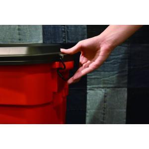 おしゃれな屋外用 ごみ箱 トラッシュカン 30L イエロー【L-941Y】【東谷】【注意:代引き不可】|mary-b|05