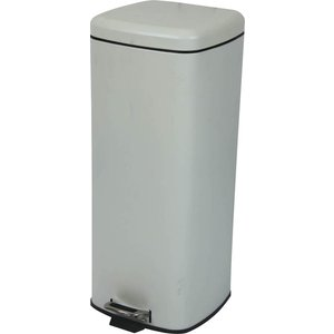 べダル式 ふた付きゴミ箱 30Lラバン ホワイト【LFS-072WH】 【東谷】【注意:代引き不可】|mary-b