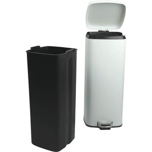 べダル式 ふた付きゴミ箱 30Lラバン ホワイト【LFS-072WH】 【東谷】【注意:代引き不可】|mary-b|04