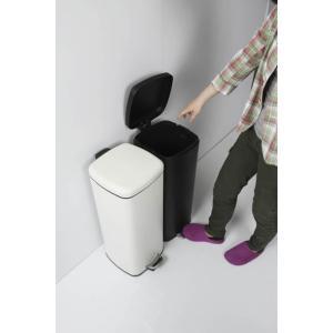べダル式 ふた付きゴミ箱 30Lラバン ホワイト【LFS-072WH】 【東谷】【注意:代引き不可】|mary-b|05