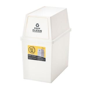 キッチンのおしゃれな分別 ゴミ箱 30L LFS-760WH ホワイト 東谷|mary-b