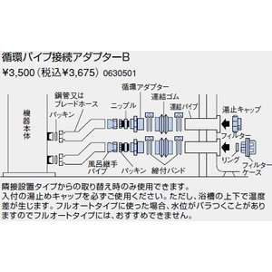 0630501 ノーリツ 給湯器 関連部材 循環パイプ接続アダプターB|mary-b