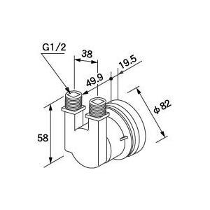 0704958 ノーリツ 給湯器 関連部材 循環アダプターHX 循環アダプター HX-F|mary-b