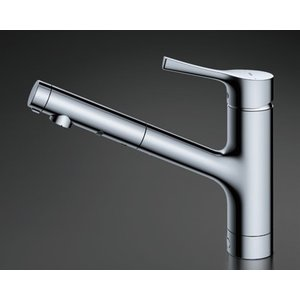 TOTO キッチン用水栓金具 【TKS05305J】 GGシリーズ シングル混合水栓(ハンドシャワー・吐水切り替えタイプ) 台付シングル混合水栓|mary-b