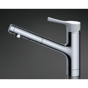 TOTO キッチン用水栓金具 【TKS05306J】 GGシリーズ シングル混合水栓(ハンドシャワー・吐水切り替えタイプ) 台付シングル混合水栓|mary-b