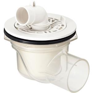 TP-54 洗濯機 防水パン用 排水トラップ INAX リクシル (横引き) 透明 ABS製排水トラップ TP54|mary-b