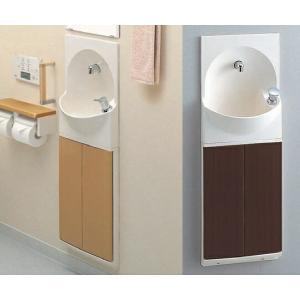 TOTO トイレ 手洗器付キャビネット 【YSC46SX#MW】(ダルブラウンA) 【YSC46SX#ML】(ミルベージュ) ハンドル式水栓タイプ|mary-b