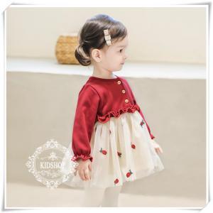 子供ドレスフォーマルベビー赤ちゃん秋春冬キッズドレス子供服入園式結婚式長袖