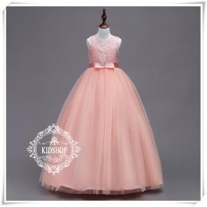 ピアノ発表会子供ドレスロング高級結婚式輸入160セールフォーマル 七五三 ジュニアドレス