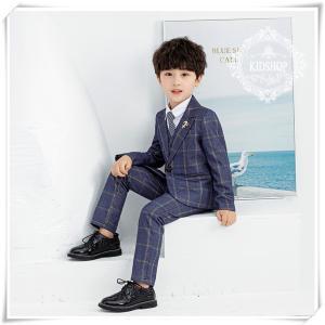 男の子入学式卒園式 スーツ子供服 お受験フォーマル発表会長袖シャツパンツ 結婚式 4点セット
