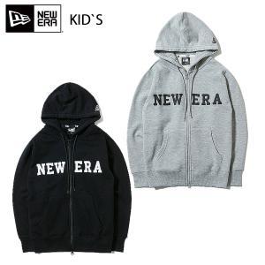 ニューエラ スウェット キッズ NEW ERA Youth フルジップ フーディー NEW ERA ロゴ|masanagoya