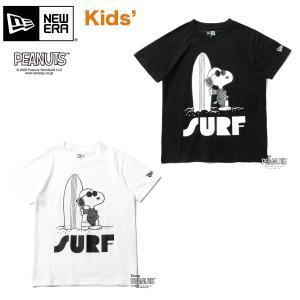 ニューエラ Tシャツ キッズ NEW ERA Youth 半袖 コットン Tシャツ PEANUTS ピーナッツ ジョー・クール サーフ スヌーピー #peanuts 90 100 110 120|masanagoya