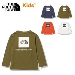 ノースフェイス キッズ ロンT ロングスリーブスクエアロゴティー THE NORTH FACE L/S Square Logo Tee 長袖Tシャツ 吸汗 速乾 UVケア 110 120 130 140 子供 masanagoya