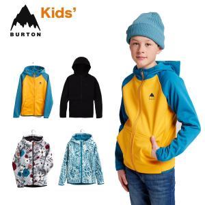 バートン パーカー 撥水 キッズ W22JP-221211 Kids' Burton Crown Weatherproof Full-Zip Fleece クラウン ウェザープルーフ フルジップ フリース スウェット masanagoya