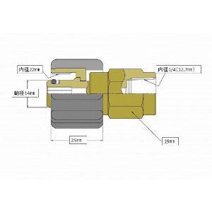 M22カプラ・メス(1/4メスネジ) A社製 masd 03