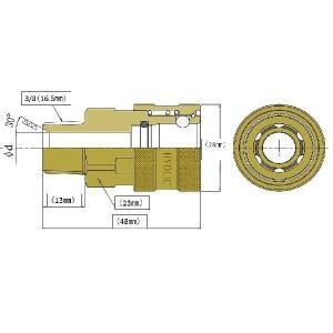 ワンタッチカプラー 3/8メス(3/8オスネジ) 真鍮製|masd|03