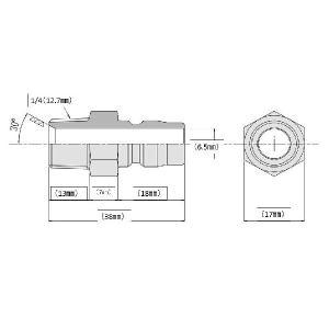 ワンタッチカプラー 1/4オス(1/4オスネジ)ステンレス製|masd|03