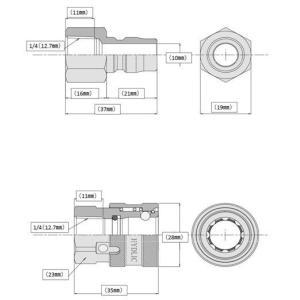 高圧ホース やらかめ 10メートル 耐圧210K 2分(3/8ワンタッチカプラー付)|masd|02