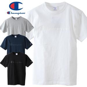 チャンピオン メンズ Tシャツ Champion BASIC LOGO TEE C3-M350|mash-webshop