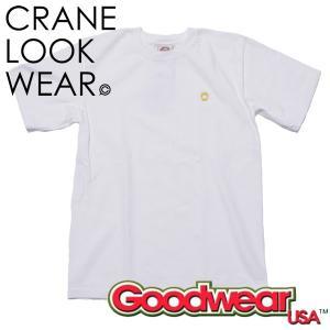 CRANELOOKWEAR クレインルックウェア Goodwear Teeグッドウェア 刺繍 ワンポイント|mash-webshop