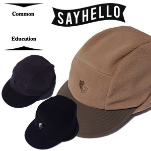 COMMON EDUCATION × SAY HELLORAFTOP FLEECE CAPフリースキャップ|mash-webshop