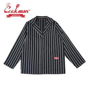 クックマン ジャケット ストライプ Cookman Lab.Jacket Stripe 「Black」|mash-webshop