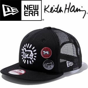New Era ニューエラ 9FIFTY Trucker Keith Haring キースヘリング 缶バッジ付|mash-webshop