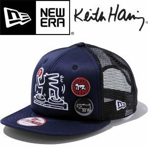 New Era ニューエラ 9FIFTY Trucker DJ DOG Keith Haring キースヘリング 缶バッジ付|mash-webshop