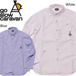 go slow caravan ゴースローキャラバン シャツ オックスラグラン ボタンダウンシャツ|mash-webshop
