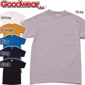 MADE in USA 日本別注モデル! Goodwear グッドウェア ヘビーウェイト クルーネック ポケットTシャツ|mash-webshop