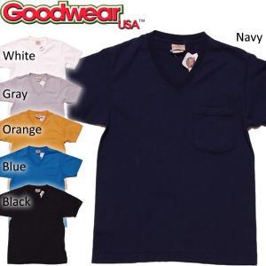 MADE in USA 日本別注モデル! Goodwear グッドウェア ヘビーウェイト Vネック ポケットTシャツ|mash-webshop
