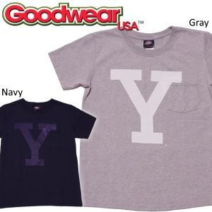 MADE in USA Goodwear × YALE グッドウェア × エール ヘビーウェイト クルーネック ポケットTシャツ|mash-webshop