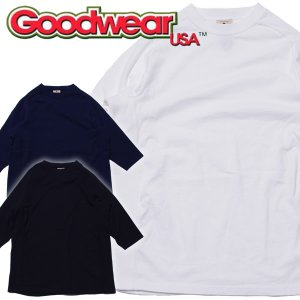 【MADE in USA】goodwear グッドウェアFreedom Sleeve 3/4 Teeフリーダムスリーブ 七分袖 ラグランTee|mash-webshop