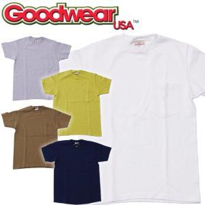 Goodwear グッドウェア  ヘビーウェイト クルーネック ポケットTシャツ|mash-webshop