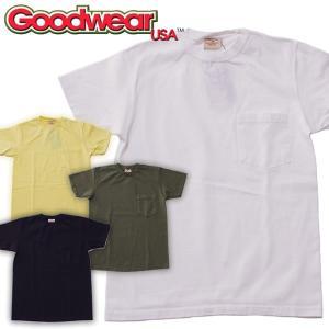 Goodwear (グッドウェア)CREW NECK CUSTUMヘビーウェイト クルーネック ポケットTシャツ ポケT2017SS|mash-webshop