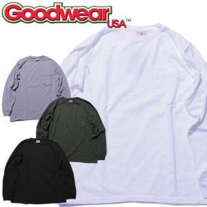 Goodwear グッドウェア CREW NECK POKET TEEヘビーウェイト クルーネック Tシャツ 長袖|mash-webshop